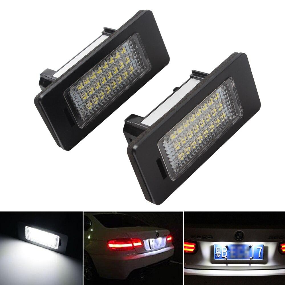 1 Pair LED Car License Plate Light for BMW X1 X5 X6 E39 E60 E61 E70
