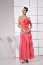 free shipping 2013 zuhair dress peach plus size rockabilly beach formal gown custom size/color Bridesmaid Dresses