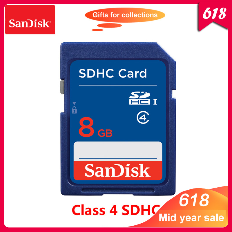 100% Original SanDisk 8GB SD Card Class 4 SDHC Memory card 8GB C4 carte sd for Camera Support Official Verification-in Memory Cards from Computer & Office