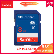 100% Original SanDisk 8GB SD Card Class 4 SDHC Memory card C4 carte sd for Camera Support Official Verification
