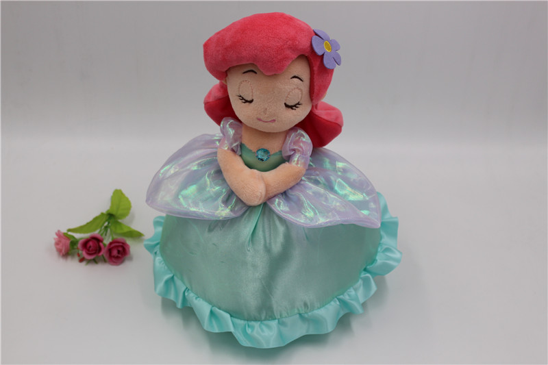 New The Little Mermaid Princess 12 Plush Doll with Blanket So Cute