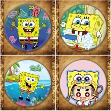American Anime SpongeBob SquarePants Display Badge Fashion Cartoon Figure Patrick Star Brooches Pin Jewelry Accessories