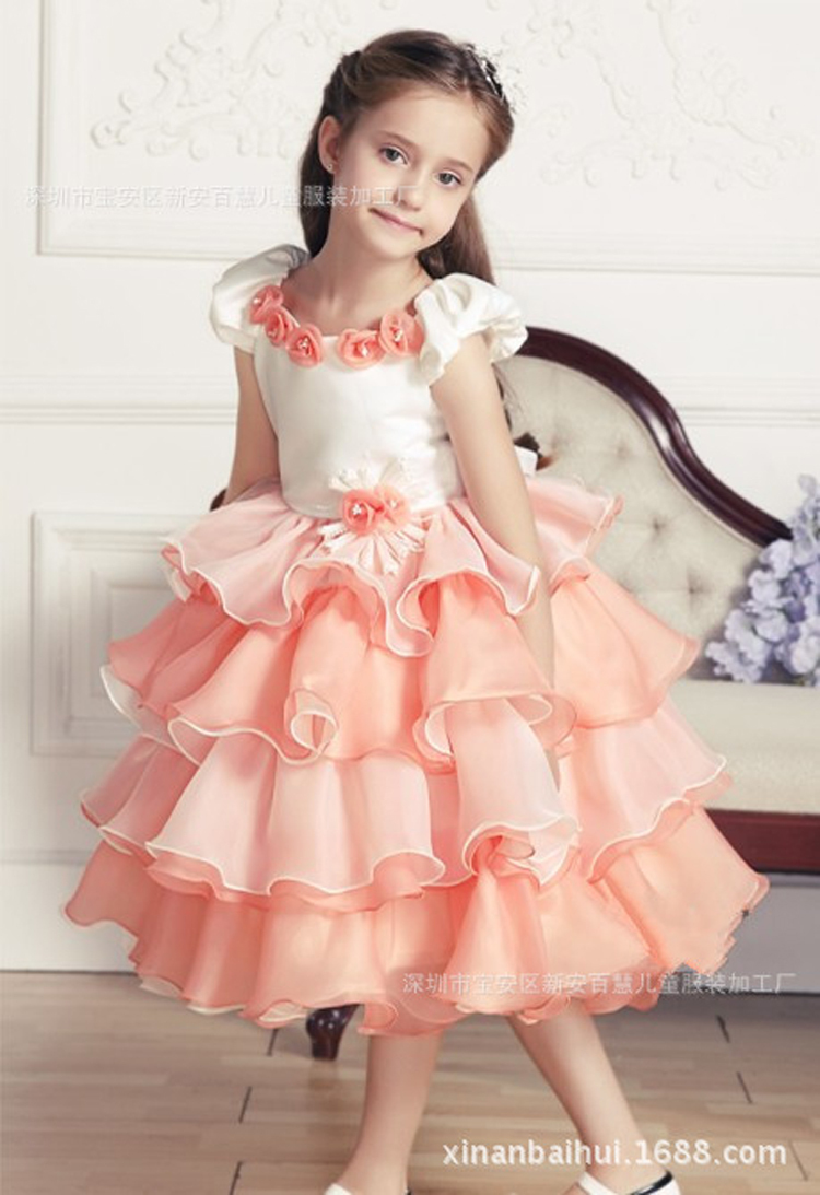 794d59617 new arrival summmer beautiful chiffon floral fluffy children frocks designs  princess fancy dresses for baby girl party dress-in Dresses from Mother &  Kids ...