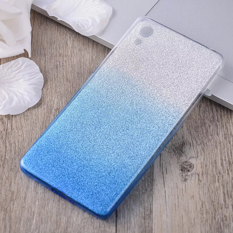 Luxury Rainbow Bling Soft Back Cover Case For SONY Xperia XA XA1 XZ X Z5 Dual Ultra F5122 Premium Protector Coque Colorful