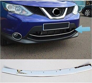 Accesorios para nissan QASHQAI 2014 2015 2016 cromo inferior delantera de malla de la parrilla cubierta de rejilla de guardia de moldeo