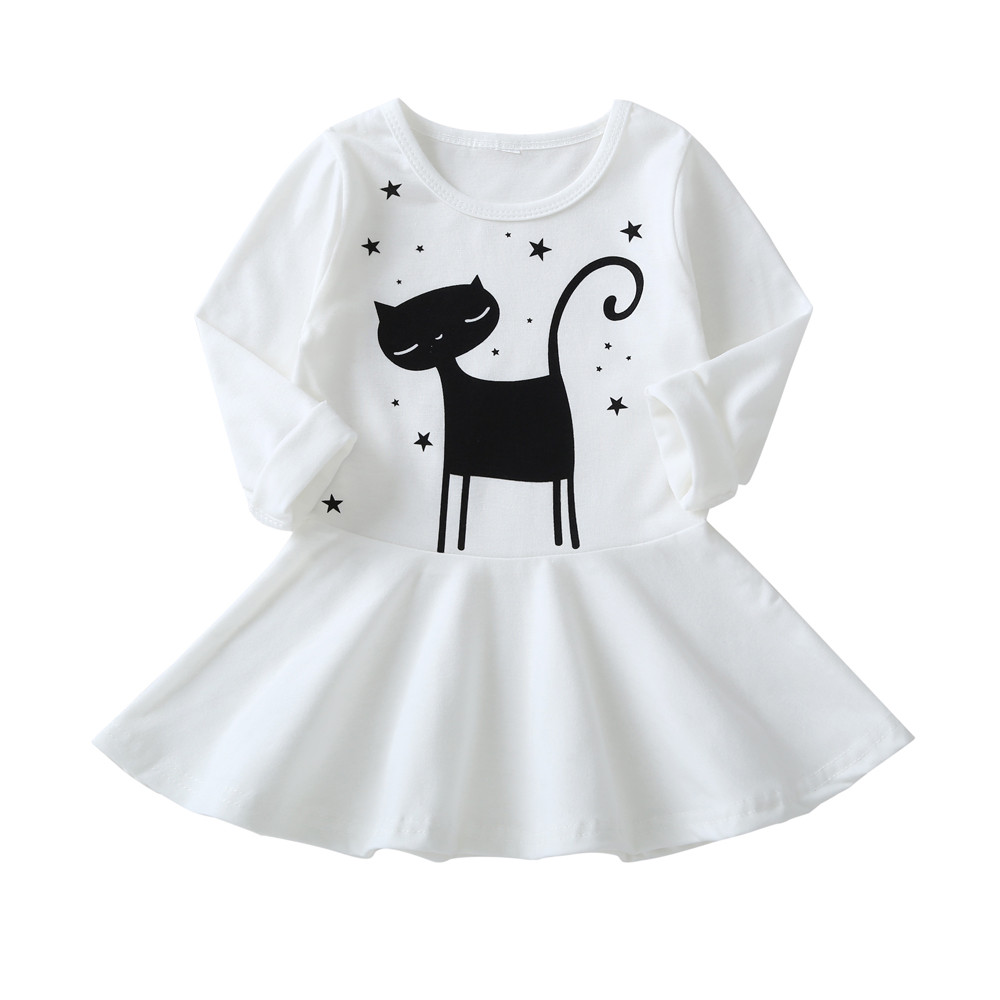 HTB1bhsDc6fguuRjy1zeq6z0KFXaG 1-7 Years Kids Girl Dress Toddler Baby Long Sleeve Dresses Summer Children Clothing Girls Cotton Princess Dress Kid Tops Outfits