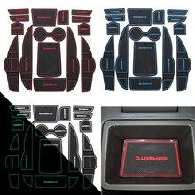 For KIA Sorento 2013 Car Gate pad Cup Mat  Automobile Interior Storage  Non-slip Cushion For Decorative Car Styling 15pcs