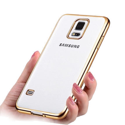 Galleria fotografica 05 luxury clear Gold original transparent soft tpu phone battery cases back coque cover case for Samsung Galaxy S5 Neo