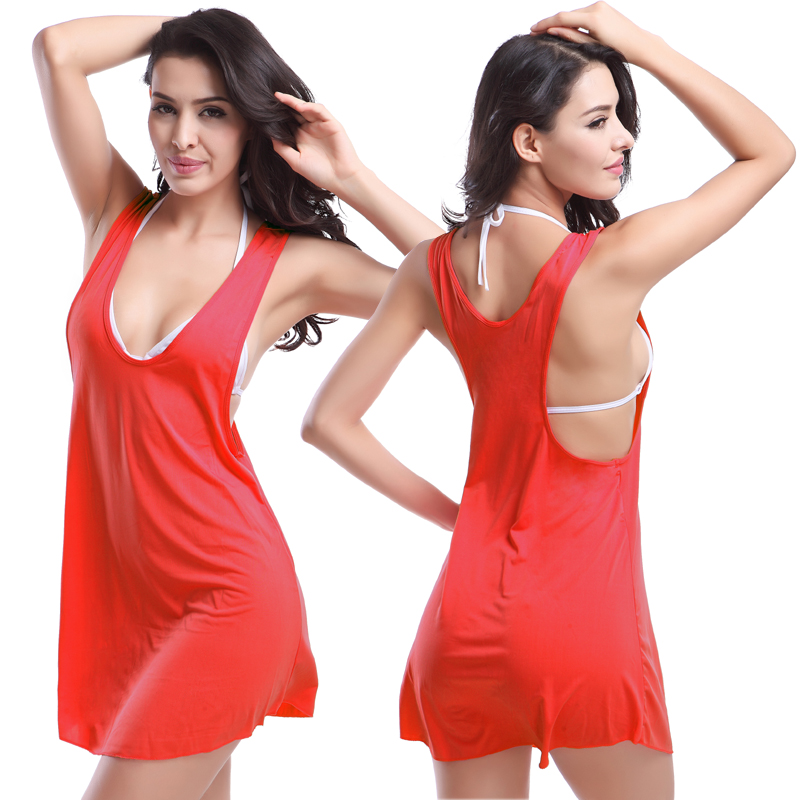 Victoria Style Hot Wholesale Racerback Tank Cover Ups Fashion 2018 Ladies New Dress 11 Colors