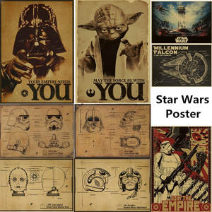 DIYOUNG Vintage Star Wars Poster Home Decor Wall Sticker