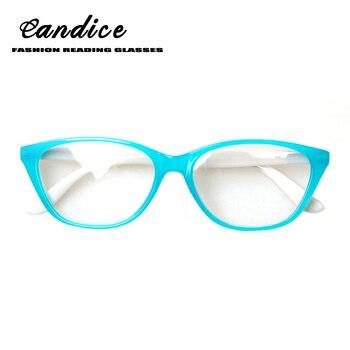 5177096414 Henotin 2018 de moda de ojo de gato gafas de lectura de las mujeres de la primavera  bisagra calidad gafas dioptrías 0,5, 1,75, 2,0, 3,0.