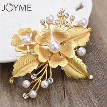Женская Цветочная заколка для волос joyme диадема с кристаллами