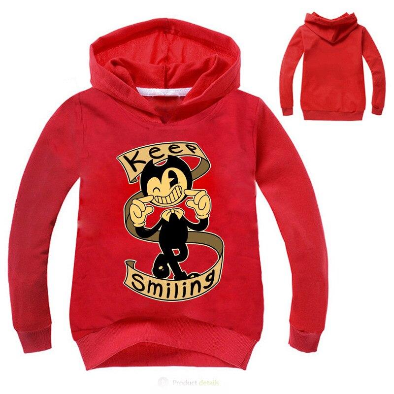 Kids tshirt bendy boys long sleeve hoodies sweatshirts the coat ink machine boyts girls T shirt clothing женская футболка other 2015 3d loose batwing harajuku tshirt t a50