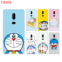 Doraemon A Blue Gift Funny Fit Mobile Back Case For Oneplus 6 6T 7 3 3T 5 5T Plus Art Patterned Customized Cover Coque Cases