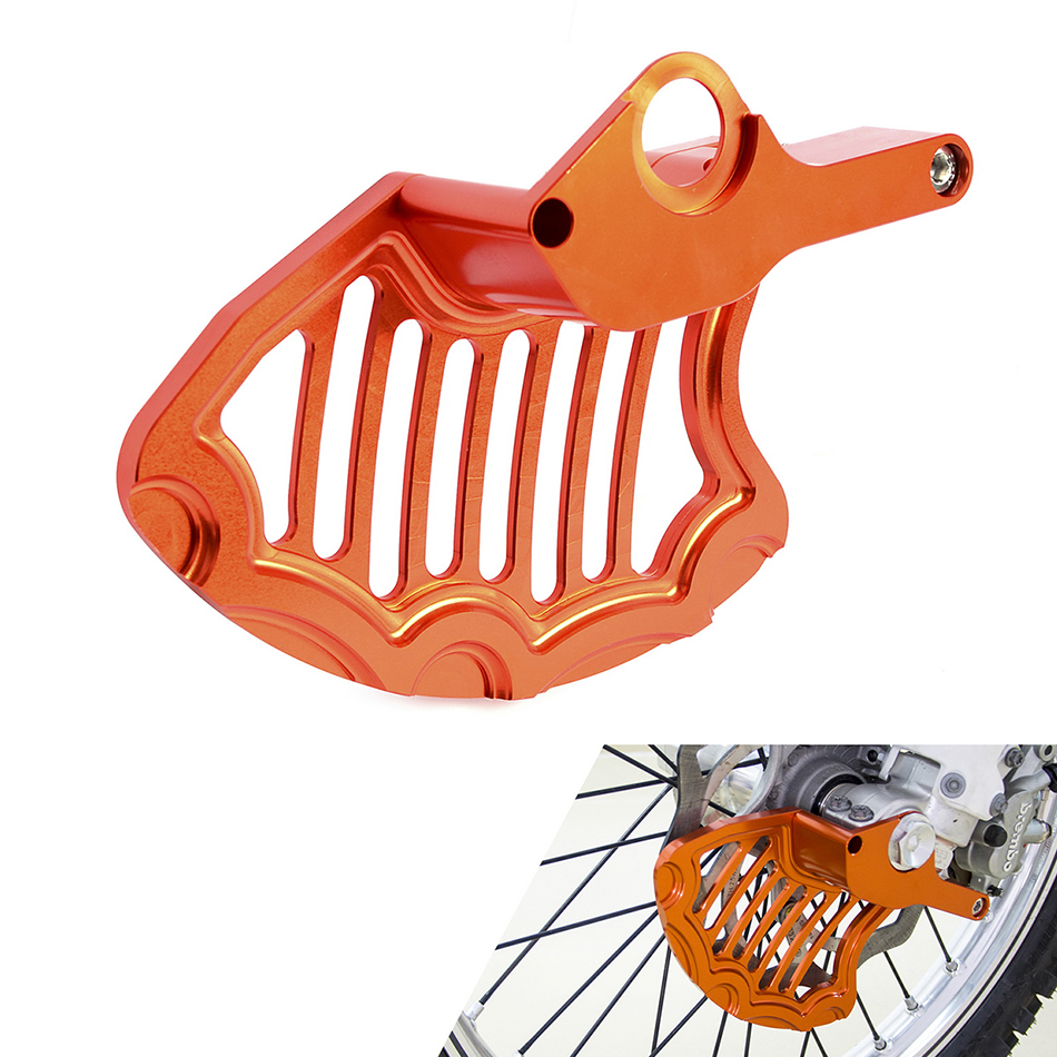 NICECNC Front Brake Disc Rotor Guard Protector Cover For KTM SX SX-F EXC EXC-F XC XC-W 125 250 350 450 500 Husqvarna TE FE TC FC e53 x5 suv rear left air spring suspension air ride suspension air spring bag assembly air suspension repair kit bag 37126750355