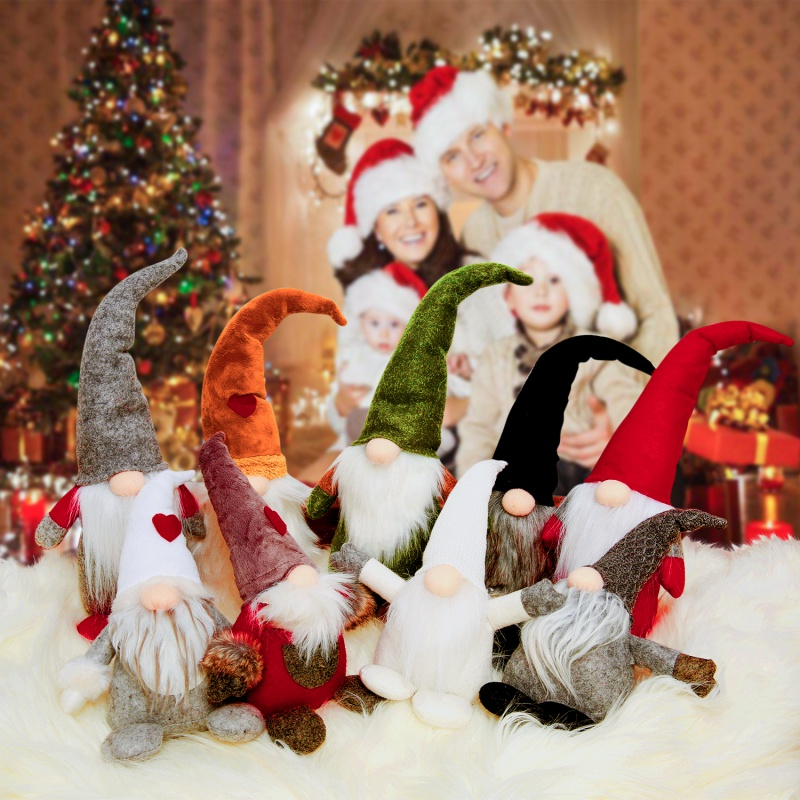 Swedish Christmas Decorations.Us 5 96 20 Off Plush Home Decor 3 Styles Handmade Swedish Christmas Elf Doll Stand Alone Nordic Christmas Decorations For Home In Pendant Drop