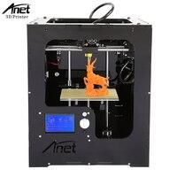 Anet A3 3D Printer New High Precision 3D Printer Aluminum Shell Acrylic Frame Hot Bed LCD