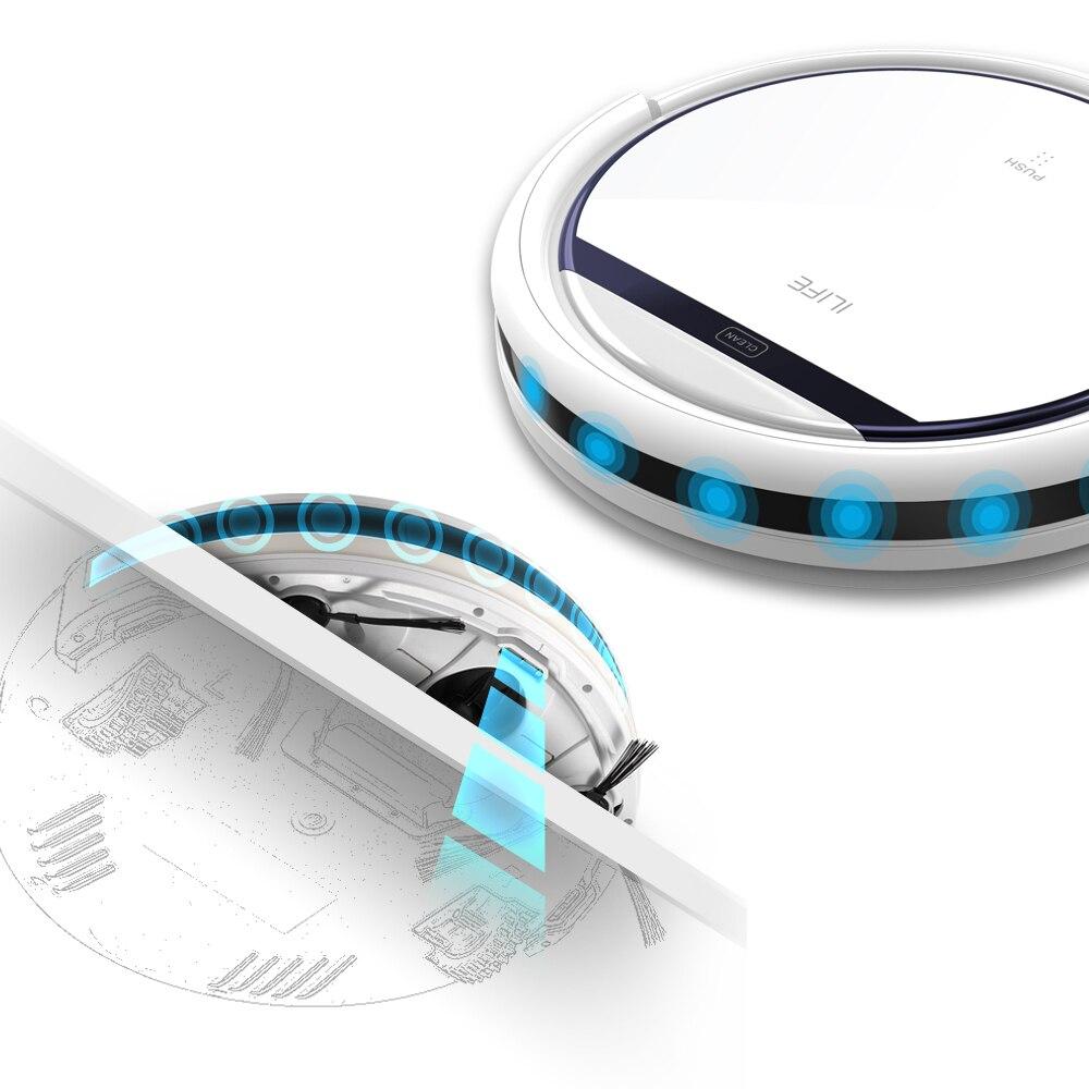 Ilife v3s pro robô aspirador de pó doméstico profissional máquina arrebatadora para o cabelo do animal estimação anti colisão recarga automática - 5
