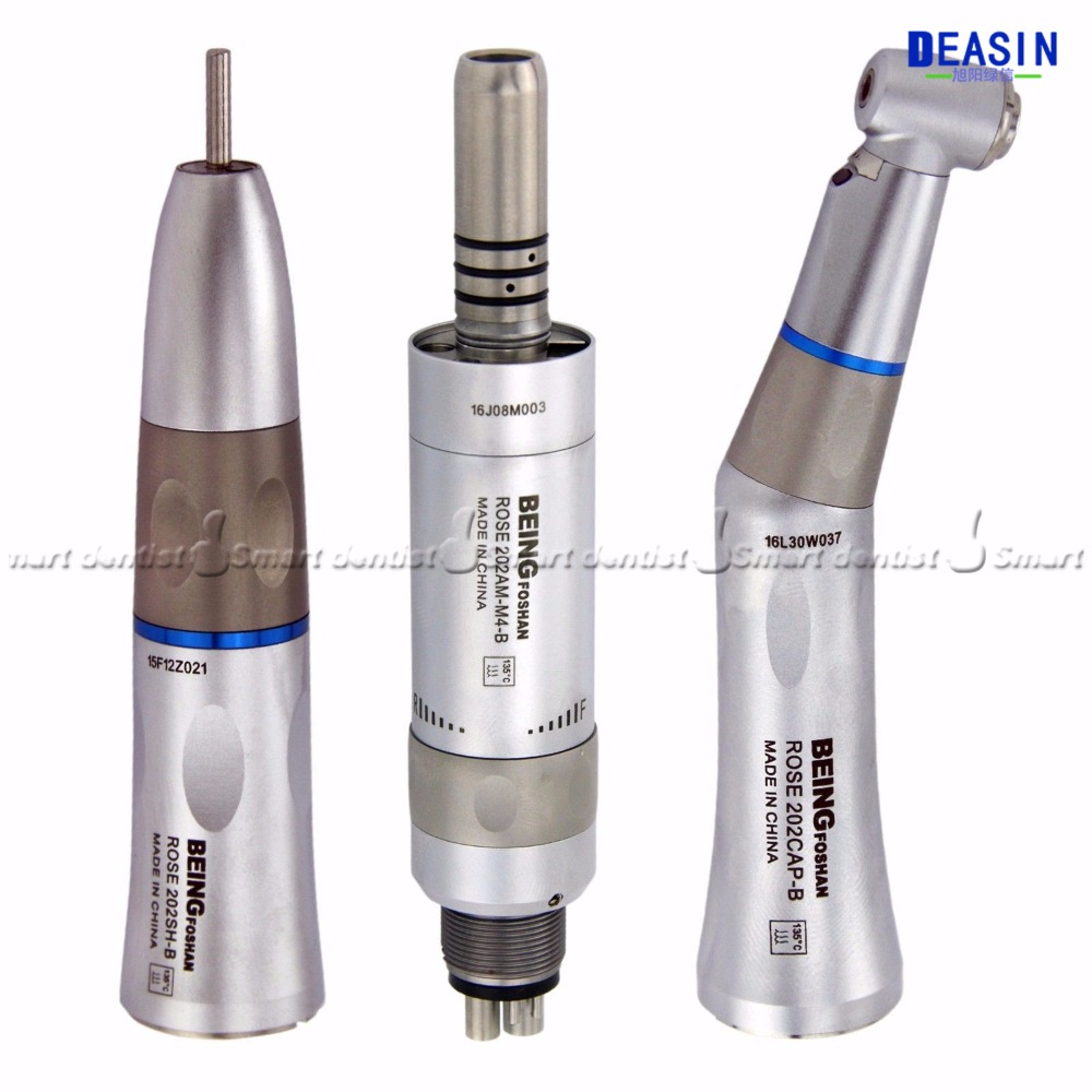 2019 high quality 1 piece dental inner water way contra angle handpiece straight handpiece 6 holes