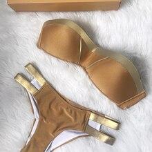 Cudowne Bikini ze Złotymi Paseczkami S-XL