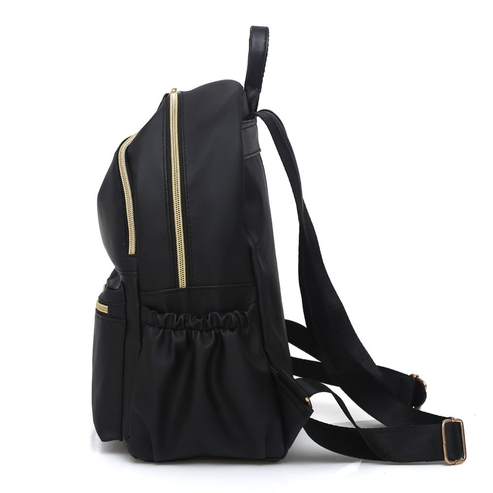 HTB1bhtba. rK1Rjy0Fcq6zEvVXaf 2019 Casual Oxford Backpack Women Black Waterproof Nylon School Bags for Teenage Girls High Quality Fashion Travel Tote Backpack