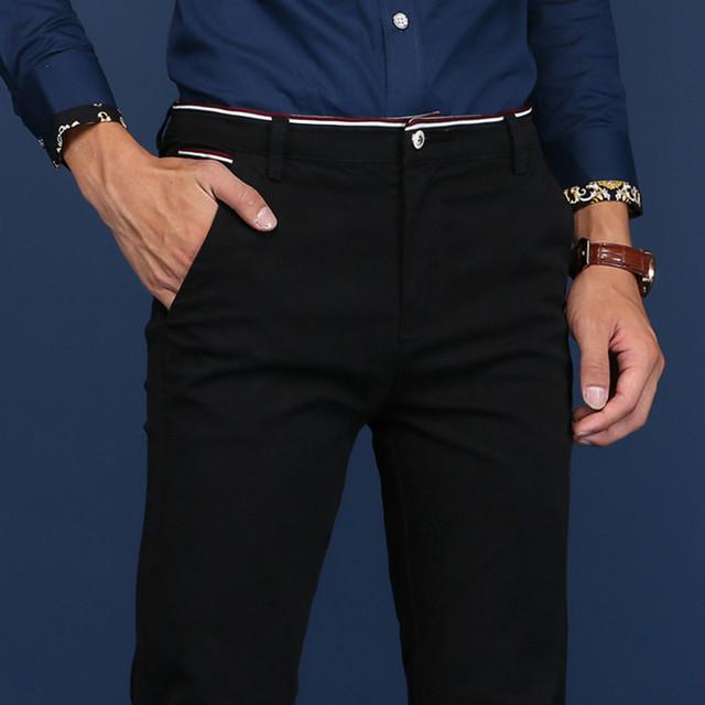 New Design Men pants  Casual  Cotton Slim Business Pants Men Plus Size