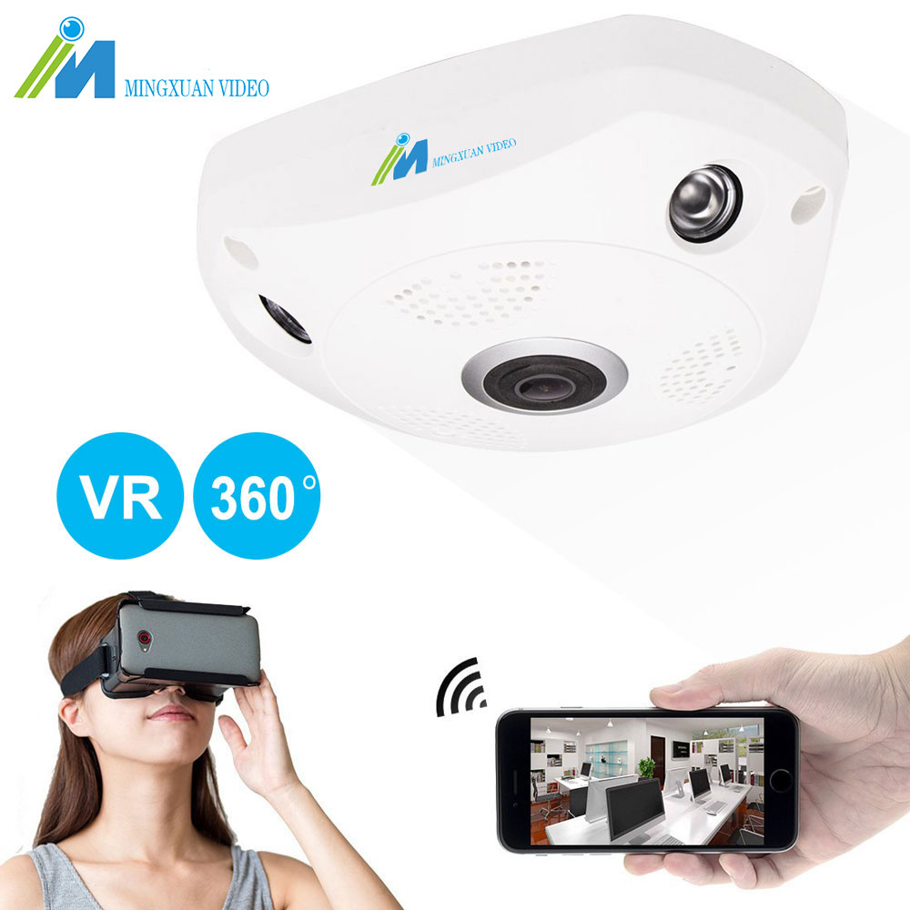 360 Wifi Camera IP 1.3MP Fish Eye Panoramic 960P WIFI PTZ CCTV 3D VR Video IP Kamera Cam Micro SD Card Audio Remote Home Monitor цена