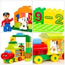 50pcs Large Size Numbers Train Building Blocks compatible with Duplos