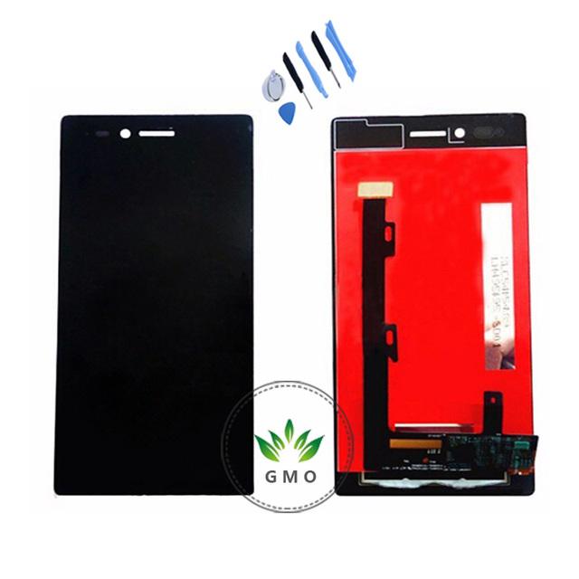 Original para lenovo vibe shot z90 pantalla lcd con pantalla táctil digitalizador asamblea negro + herramientas