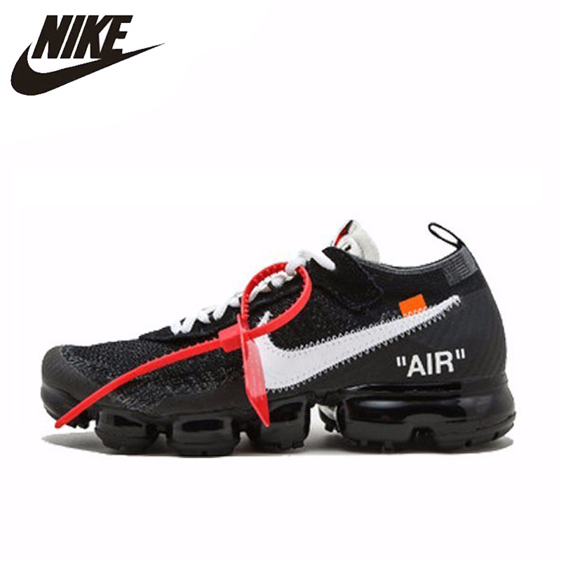 a01a22d91 NIKE Off White X Nike Air VaporMax OW Unisex Running Shoes Footwear Super  Light Comfortable Sneakers
