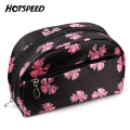 Nylon Women Small Cosmetic Bag Rose Printed Pouch Beautician Vanity Travel Cute Beauty Trolley Make Up Organier Bag