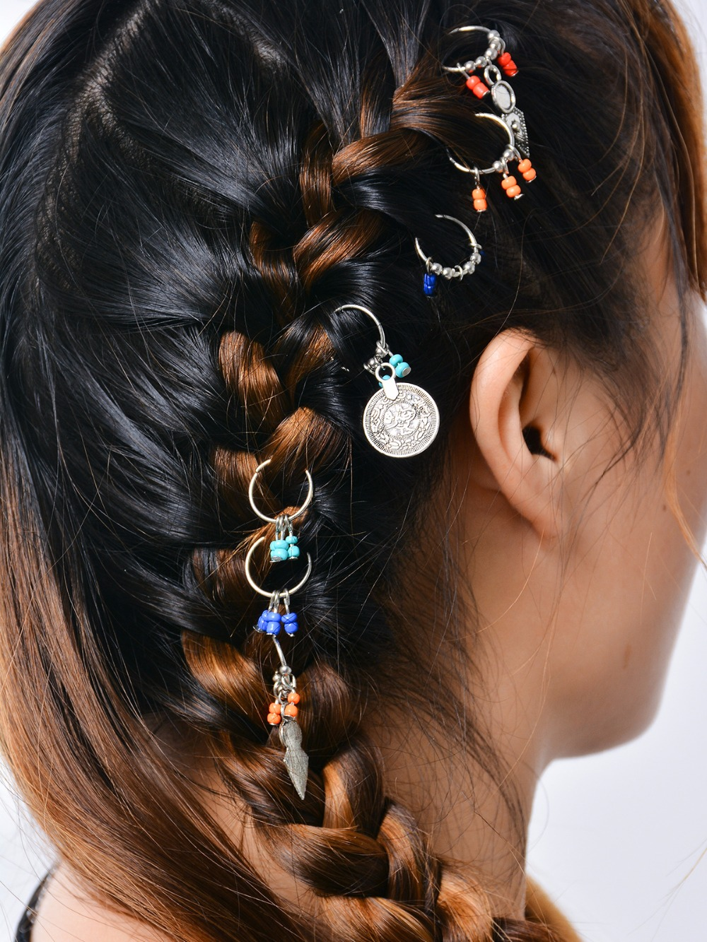 leaf snowflower metal hair clips for women hair accessories cintillos hip hop headdress hairgrips tiara hair jewelry in Hair Jewelry from Jewelry Accessories