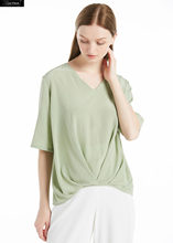 LILYSILK Silk T-Shirt 18MM Dart Tuck Front Clearance Sale(China)