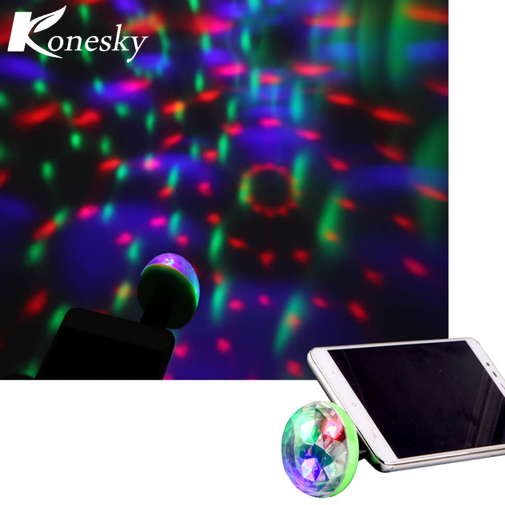 Wilskrachtig Mini 4-led Discobal Usb Powered Nachtlampje Rgb Projector Roterende Spiegel Discobal Voor Vakantie Decoratie Met Android