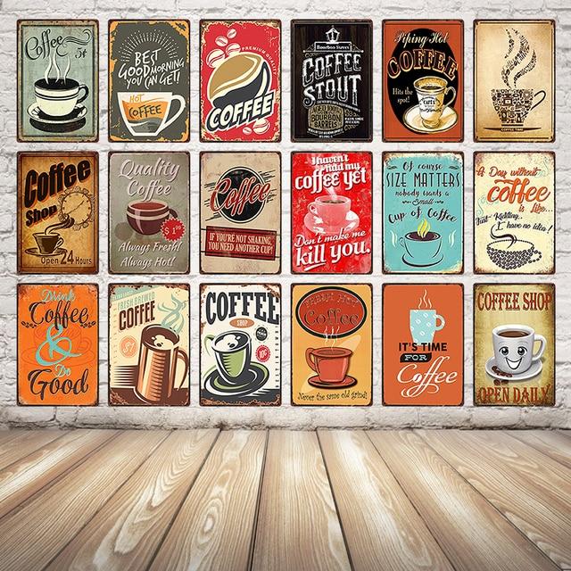 [Kelly66] קפה קפה דקור פוסטר פח שלט מתכת בציר אוספים שלט קיר ציור 20*30 CM גודל Dy17