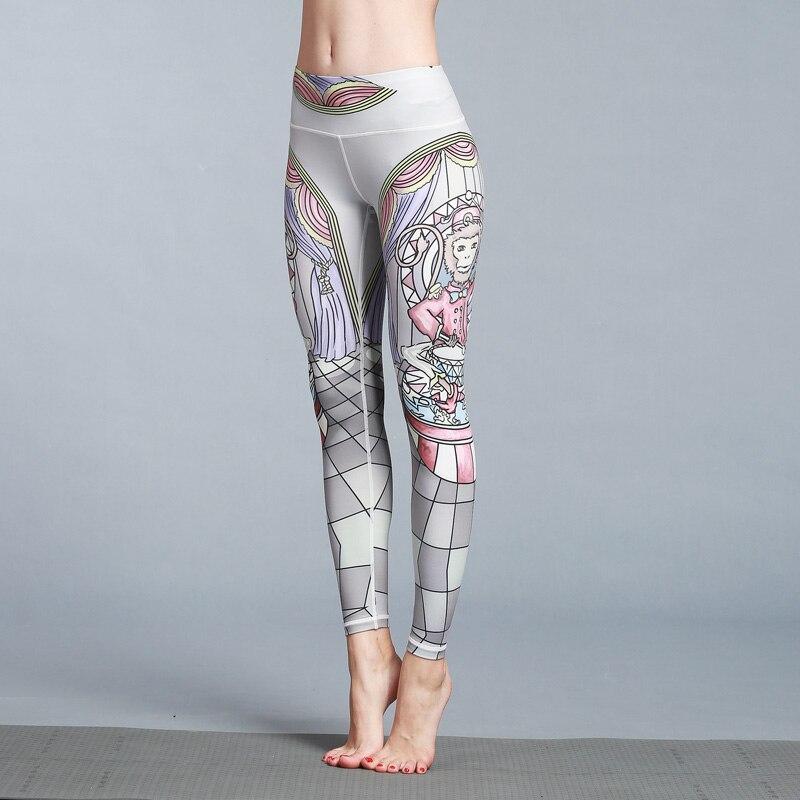 2018 New Women Slim Print Yoga Pants Quick Dry Sport Leggings Fitness Yoga Tights Jogging Running Pants Workout S-XL 10 Colors 5