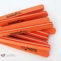hign quality 10 PCS sponge nail art files polish buffer buffing sanding block shiner 100/180 orange Acrylic Nail Care Tool