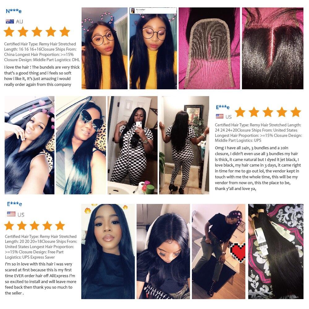 Sapphire Brazilian Straight Human Hair Bundles With Closure Brazilian Hair Weave Bundles With Lace Closure Human Hair Extension