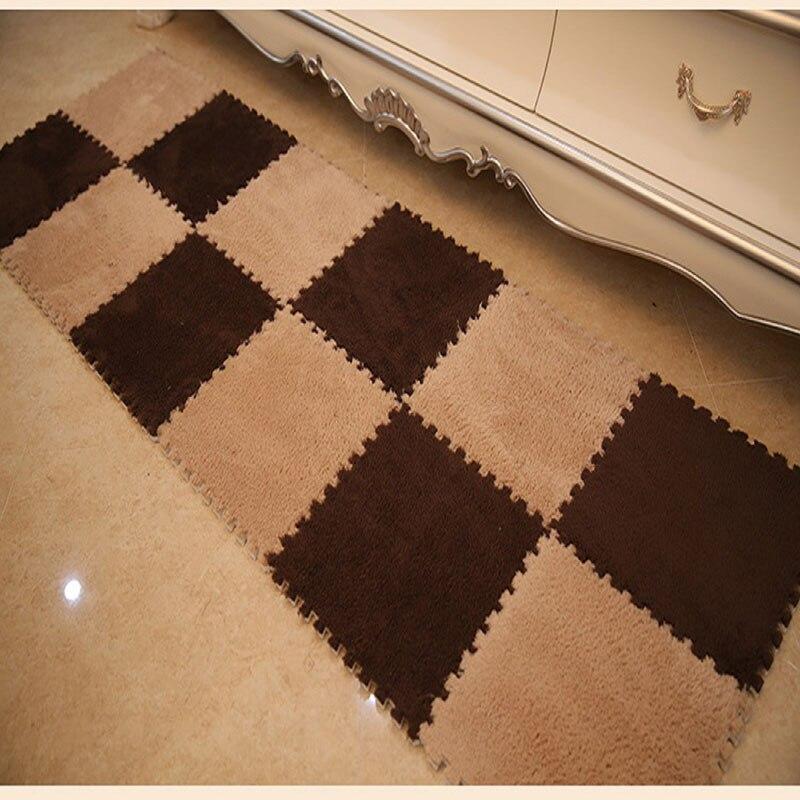 30x30CM 6pcs Set Soft Patchwork Carpet Living Room Bedroom Children Kids Window Jigsaw Splice