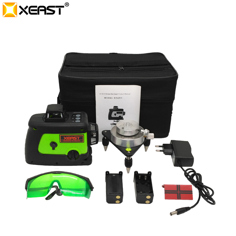 XEAST XE-60A hohe präzision 3D 12 linien 360 rotary laser level Grüne strahl laser nivel