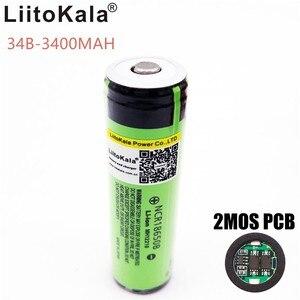 Image 2 - Новые оригинальные перезаряжаемые литий ионные батареи LiitoKala 18650 NCR18650B 2 шт./лот 3400 мАч с печатной платой Бесплатная доставка
