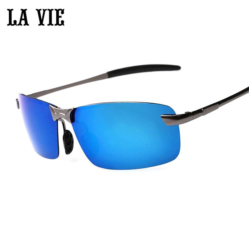 LA VIE Märke Rimless Polarized Solglasögon Män super Cool beläggning Driving Sun Glasses Oculos de sol lunette de soleil