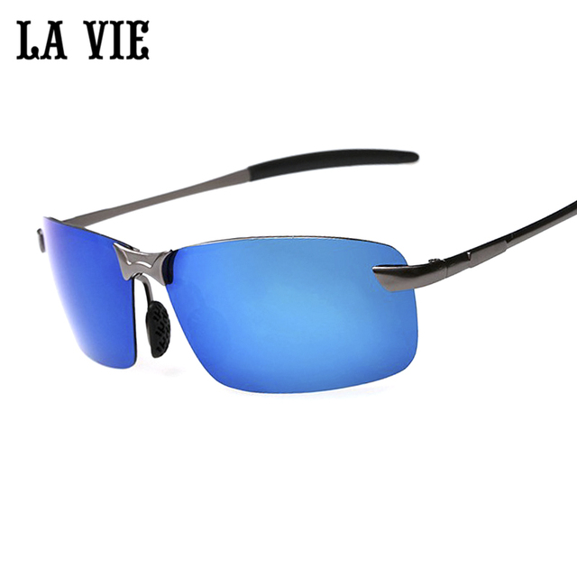 b68bbde42b4 LA VIE Brand Rimless Polarized Sunglasses Men super Cool coating Driving Sun  Glasses Oculos de sol
