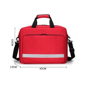 Image 2 - Große Größe Leere Erste Hilfe Tasche Medizinische medizinische Arzt Outdoor Besuchen Tasche Erste Hilfe Notfall Ausrüstung Stoage