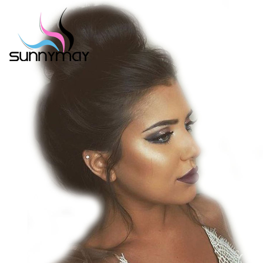 Sunnymay Brazilian Glueless Silk Straight Lace Front Human Hair Wigs With Baby Hair Pre Plucked Natural Hairline Front Lace Wigs