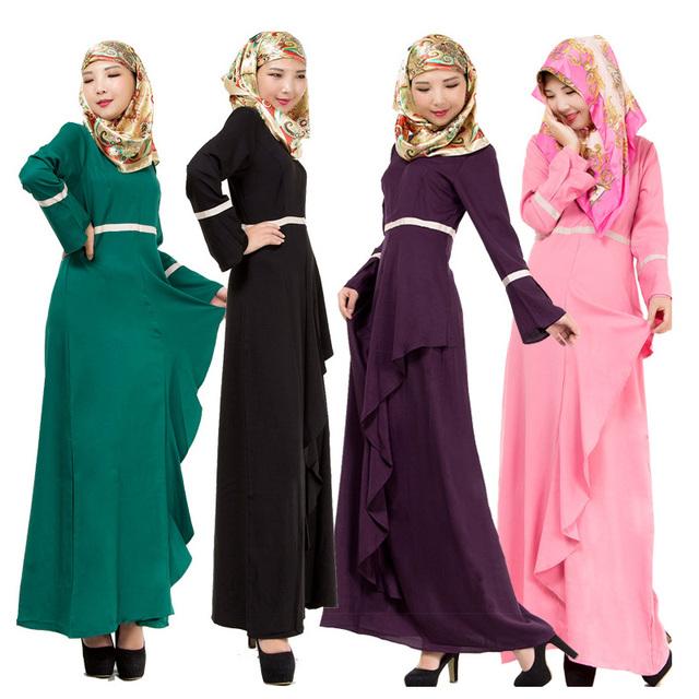 New Women Kaftan Abaya Jilbab Islamic Muslim Long Sleeve Vintage Maxi Dress Maternity Dress  Women Dress