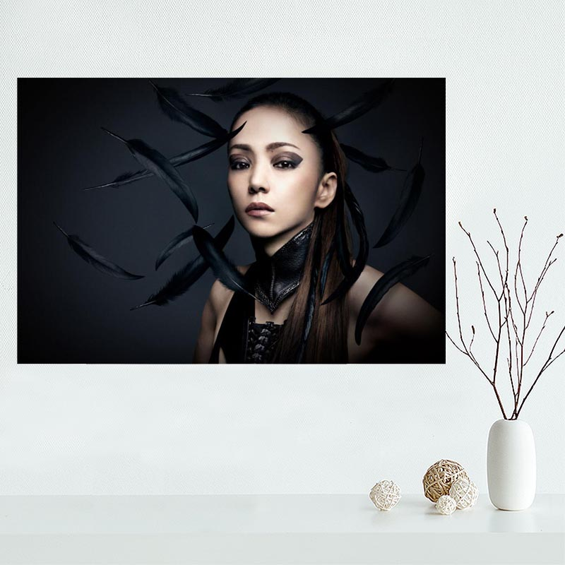 2017 New arrival Custom Namie Amuro Canvas Painting Poster Home Decor Cloth Silk Fabric Wall Art Poster for Living Room