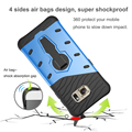 For samsung galaxy S7 case note4/5 Heavy Duty Armor Shock proof phone case spider lines heat radiation 360 Rotating Kickstand