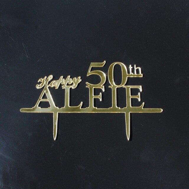 50th Anniversary Wedding Cake Topper Happy 50th Cake Topper ...