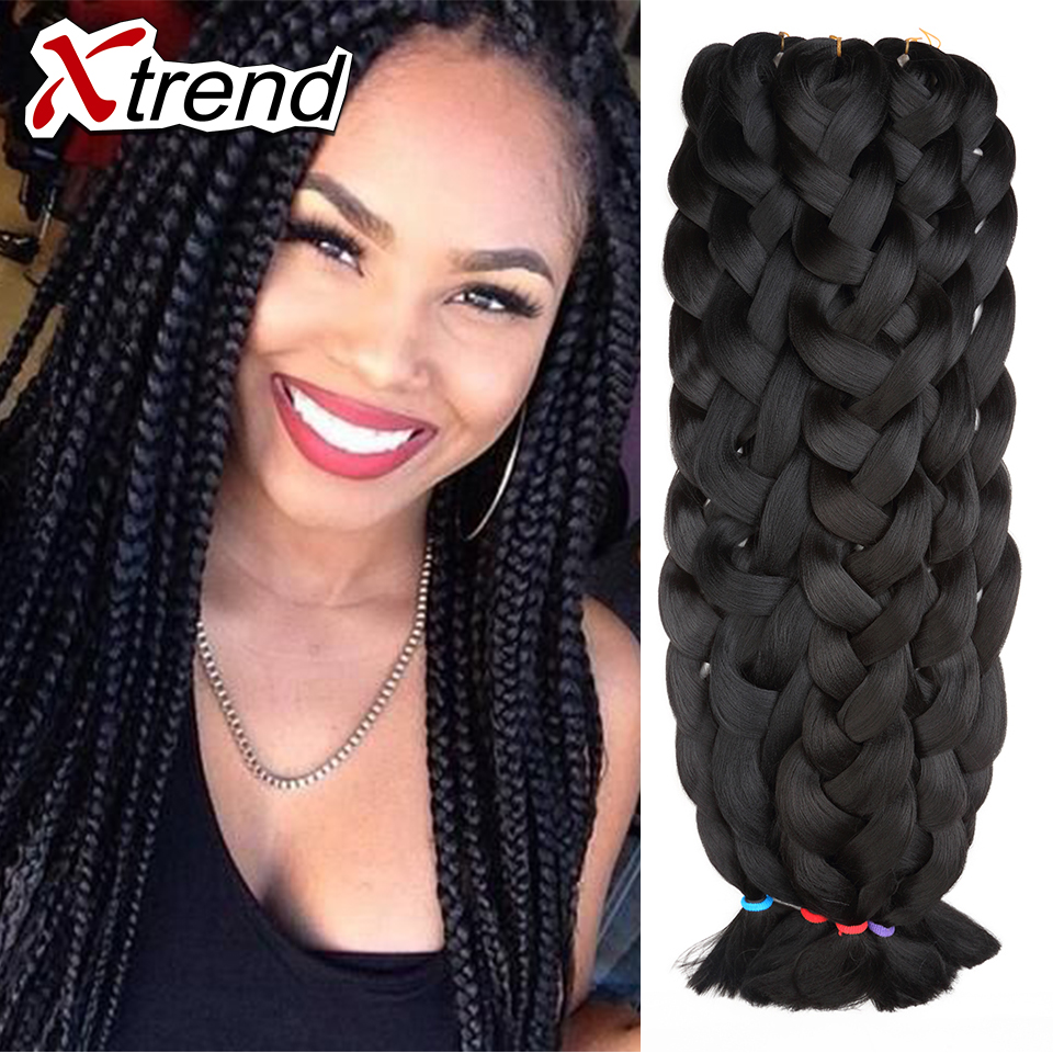 hair braids jumbo braid 165g synthetic braiding hair 42quot; blue grey black braid black hair